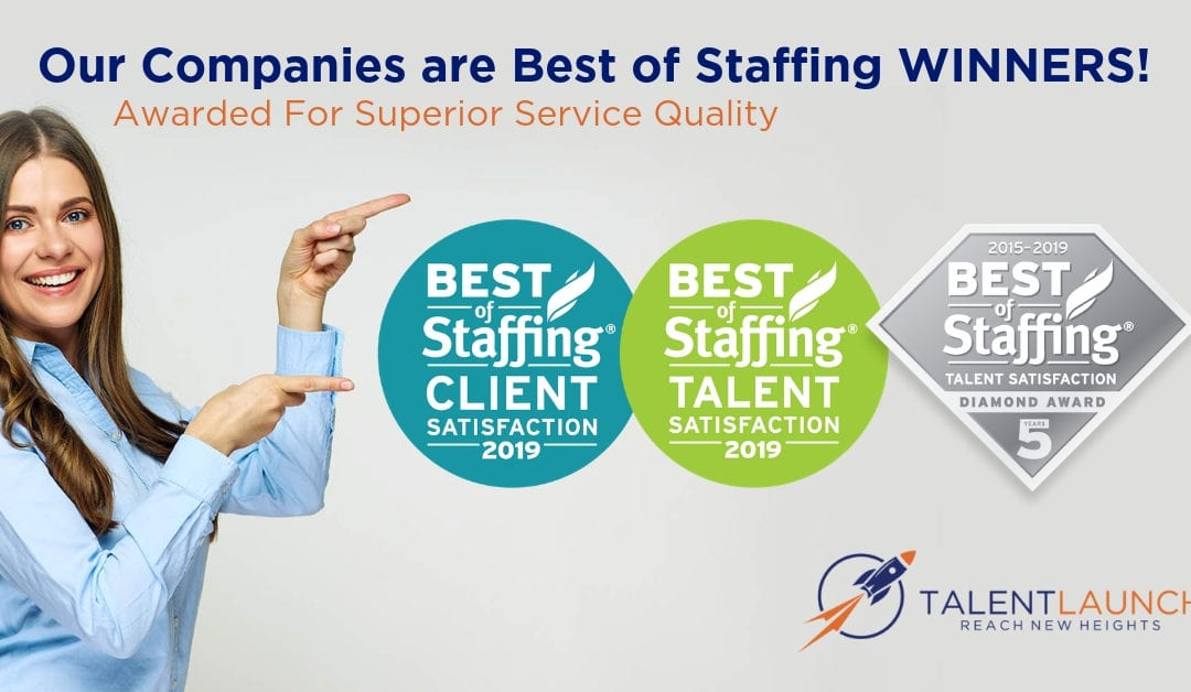 The TalentLaunch Network Picks Up 15 Best of Staffing Awards