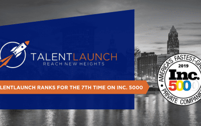 For the 7th Time, TalentLaunch Appears on the Inc. 5000, Ranking No. 3878 With Three-Year Revenue Growth of 85 Percent