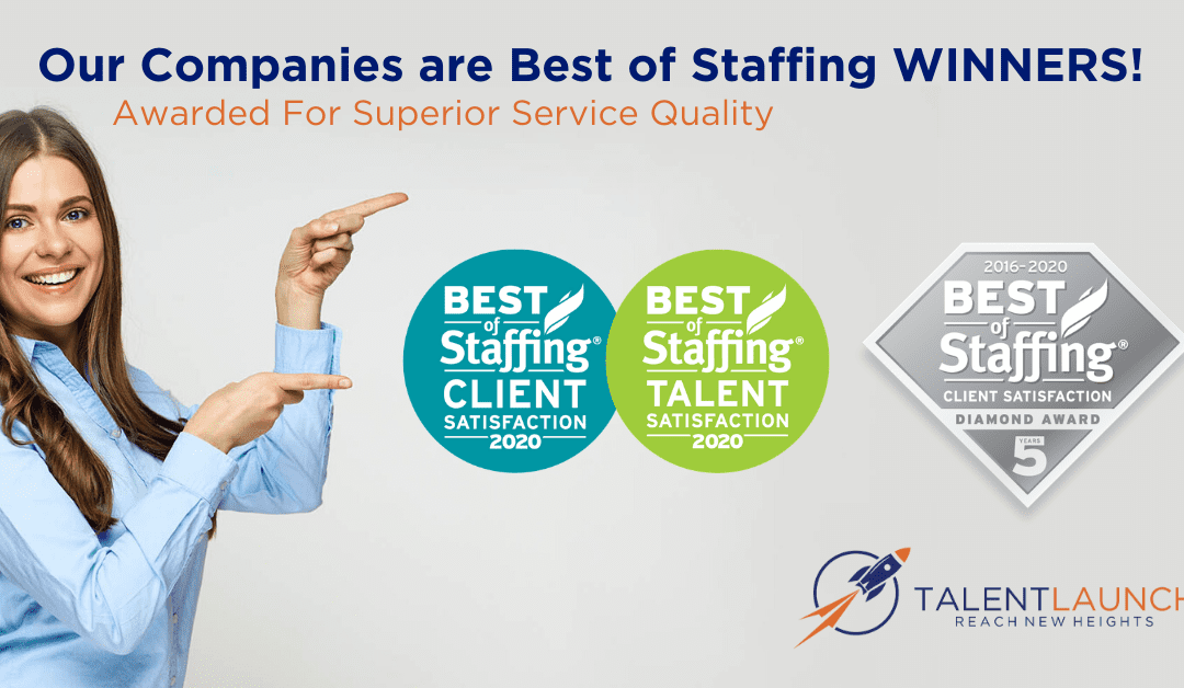 TalentLaunch Wins ClearyRated's 2020 Best of Staffing Client and Talent Awards for Service Excellence